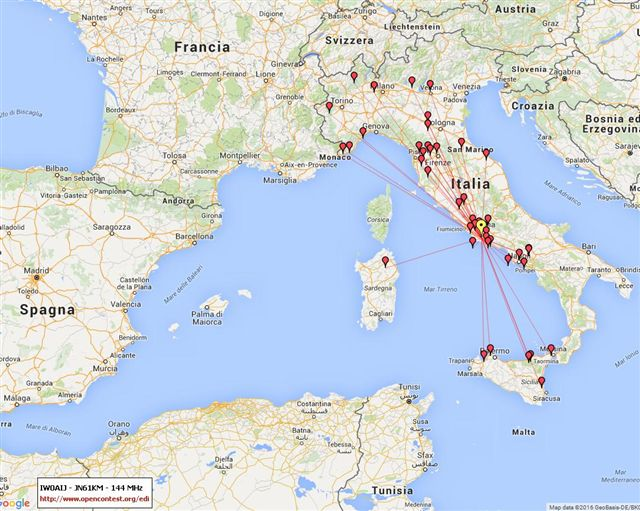 IW0AIJ - Map 144MHz